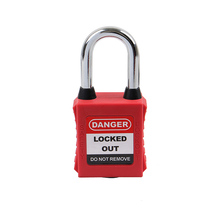 38mm AP38S Keyed Alike Dustproof padlock For Ralay Switch Anti-touch Steel shackleSafety Lockout