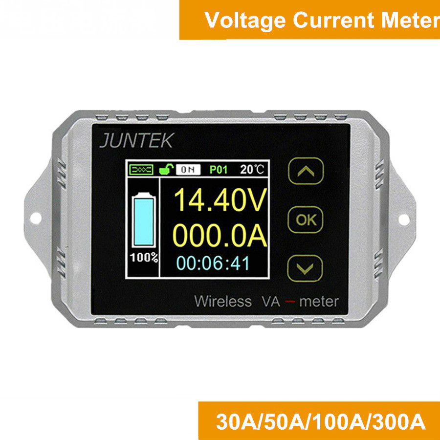 Wireless color screen DC voltage meter ammeter watt hour meter electric vehicle coulomb meter VAT-1130 цена