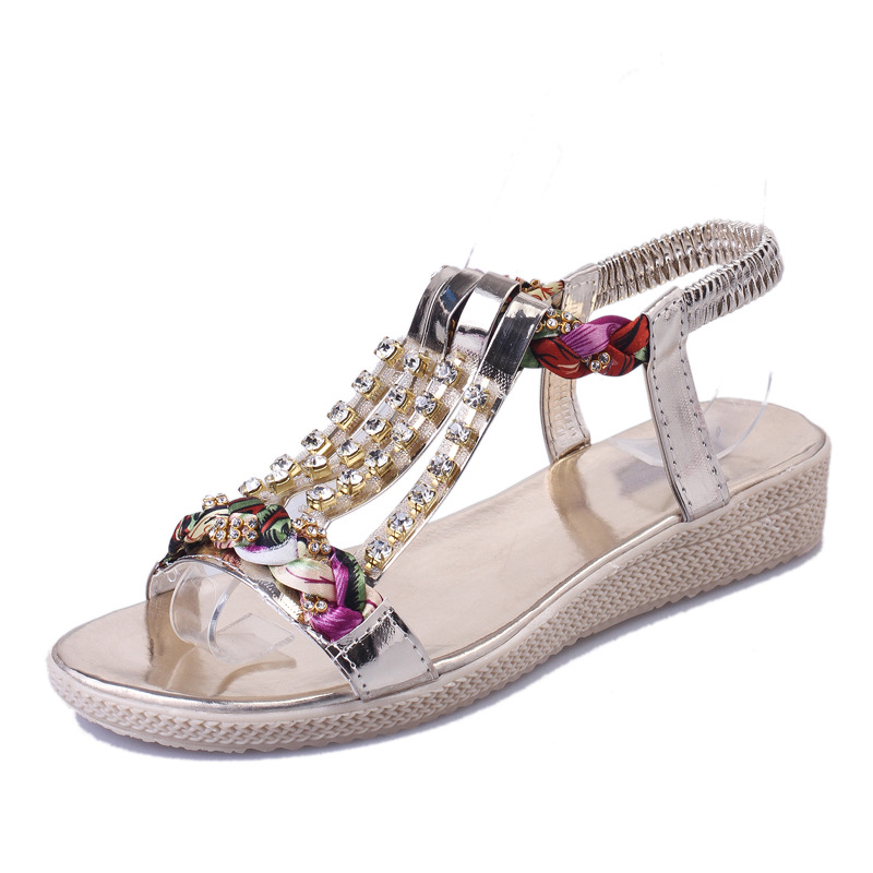 Women Sandals 2017 Summer Shoes Woman Flips Flops Wedges Bohemia Fashion Crystal Platform Female Slides Ladies Casual Shoes women sandals 2017 summer shoes woman wedges fashion gladiator platform female slides ladies casual shoes flat comfortable