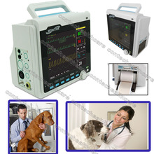 CE Portable Veterinary VET patient Monitor 6-parameters ICU with Thermal Printer