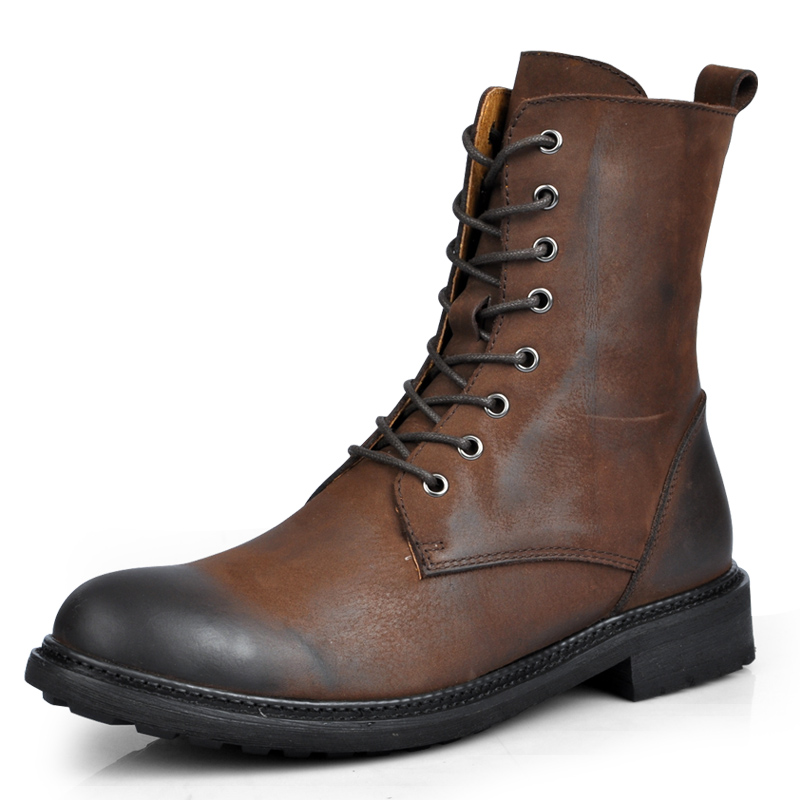 top quality 2016 fashion sale mens genuine leather boots