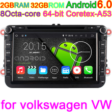 8 inch Android 6.0 Octa Core Vehicle DVD GPS Navigation for Volkswagen Skoda Superb Yeti Patrick Fabia Seat Leon Golf EOS Passat