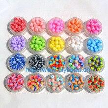 100 шт DIY аксессуары для браслетов Детский отдел рукоделия 18 цветов 8 мм круглые полимерные полосы бусины ювелирные изделия