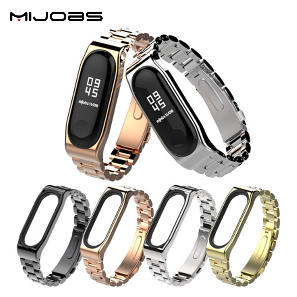 цена Replace Wrist Strap Metal Stainless Steel For Xiaomi Mi Band 3 Wristband Smart Watch Band Mi Band Wrist Band Miband3 Accessories