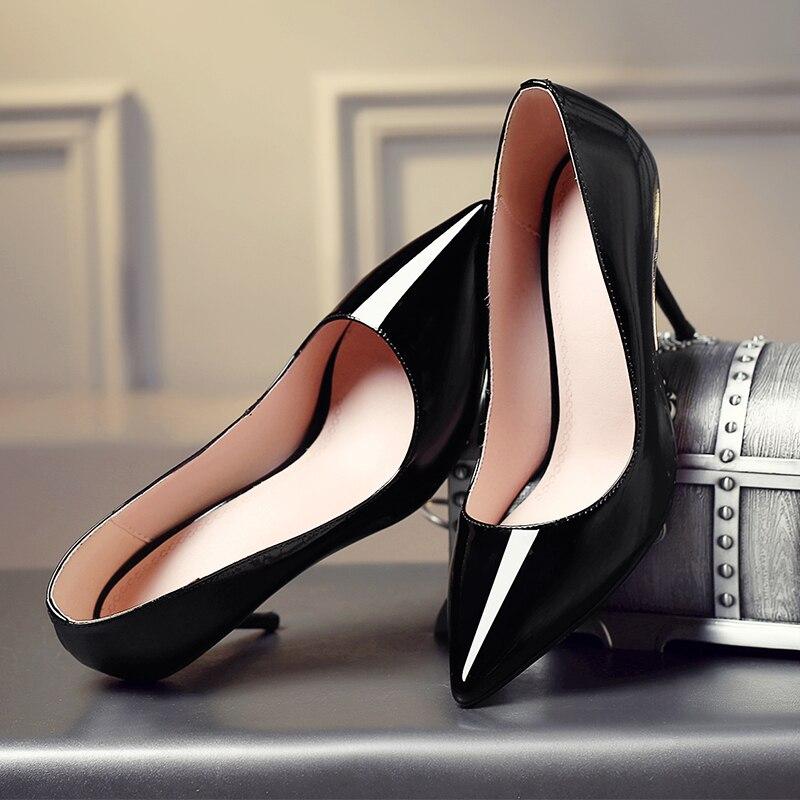 Новые модные женские ботинки/круглый носок/блочный каблук/передняя молния/сплошной цвет/зимняя повседневная и рабочая женская обувь для св... - 5