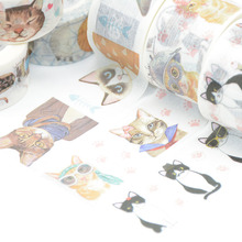 Cat washi tape Kawaii washi Cartoon scrapbooking masking tape papeleria washitape school supplies stationery fita adesiva good morning cartoon washi tape papelaria material escolar masking tape stickers scrapbooking washitape fita japanese stationery