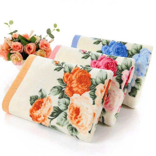 3 PZ * LOTTO Fiore di Cotone Stampato Faccia Asciugamano, Modello di Qualità Bag