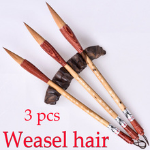 3pcs TOP Chinese Calligraphy Brushes Weasel hair brush for painting calligraphy Artist supplies