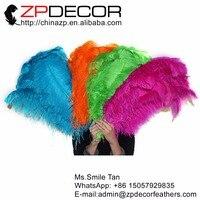 Zpdecor 100 шт./лот 70-75 см (28-30 дюймов) Качество Premium темно-зеленый окрашенная большой страусиные перья крыла перья для Хавьер