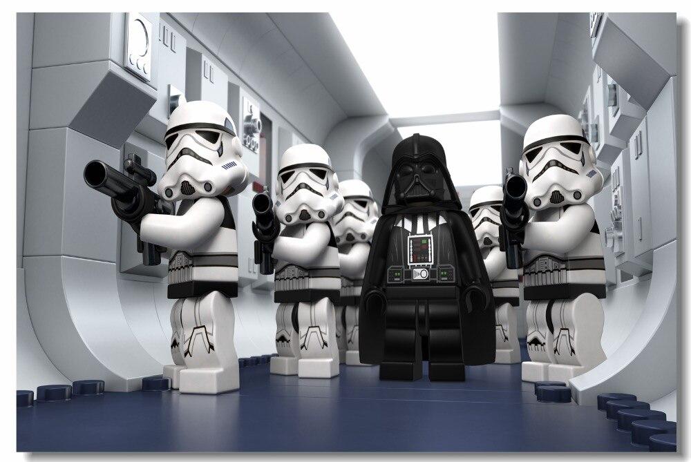 Boys Bedroom Personalised Lego Star Wars Figures Children Wall Art Sticker