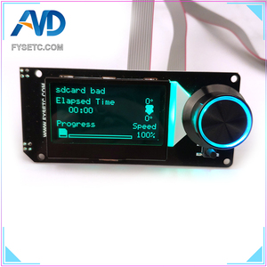 Image 2 - MINI12864 LCD Display Screen mini 12864 V1.2 LCD Smart Display 128x64 5V Support Marlin DIY SKR With SD Card For 3D Printer Part