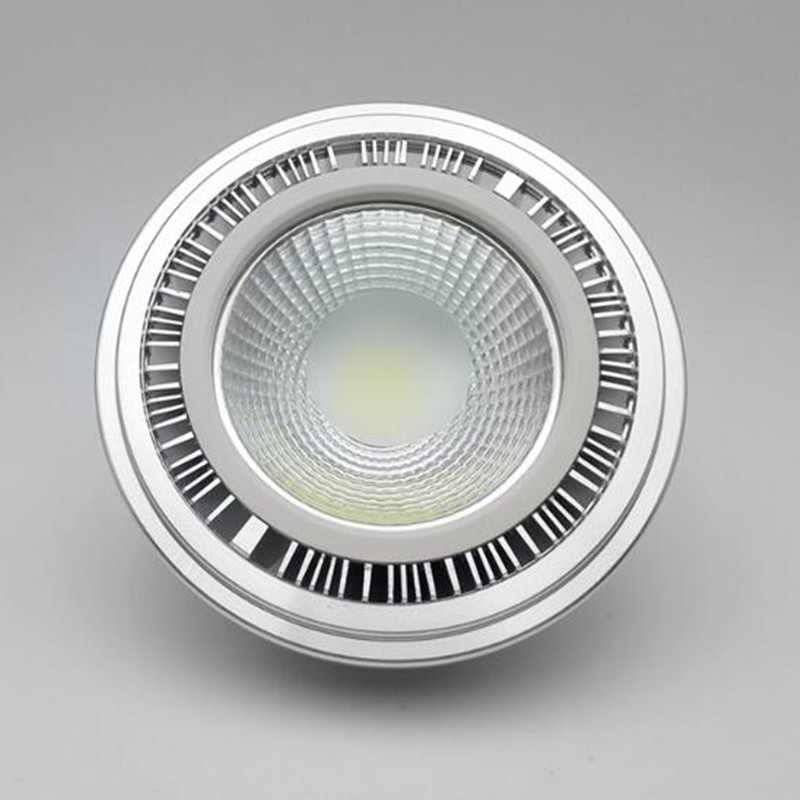 2PCS 15W AR111 QR111 ES111 GU10 LED Lamp AC85-265V/DC12V Spotlight COB Bulb Light Ampoule G53 Warm White / Cool White Dimmable