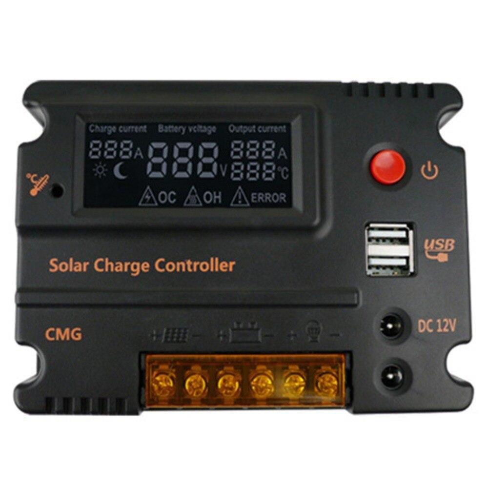 CMG12V/24 V 10A LCD rétro-éclairage chargeur solaire contrôleur solaire régulateur Intelligent surcharge protection contre les courts-circuits