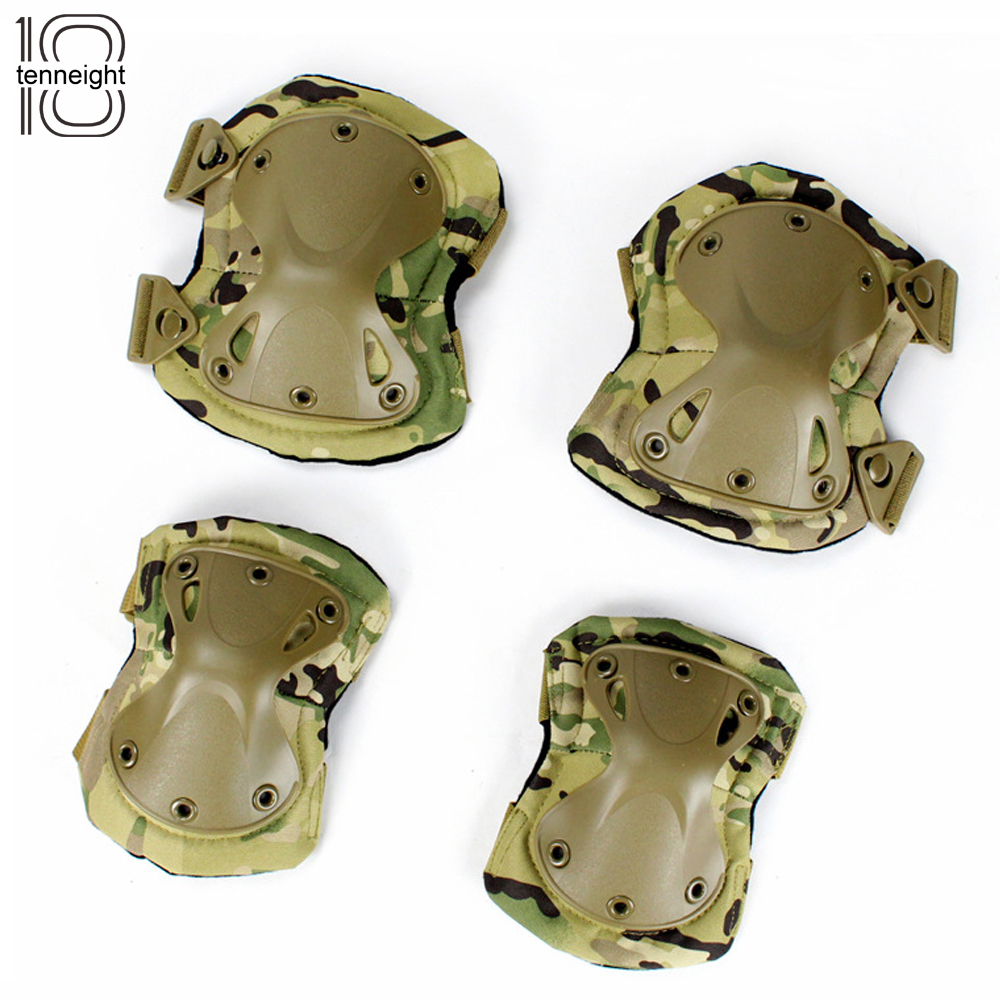 Outdoors tactical paintball protection military tactical knee pads & elbow pads set CS s ...