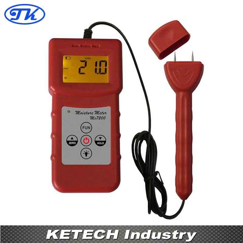 MS7200+ Digital Wood Moisture Meter for Timber Paper Bamboo Concrete Floor