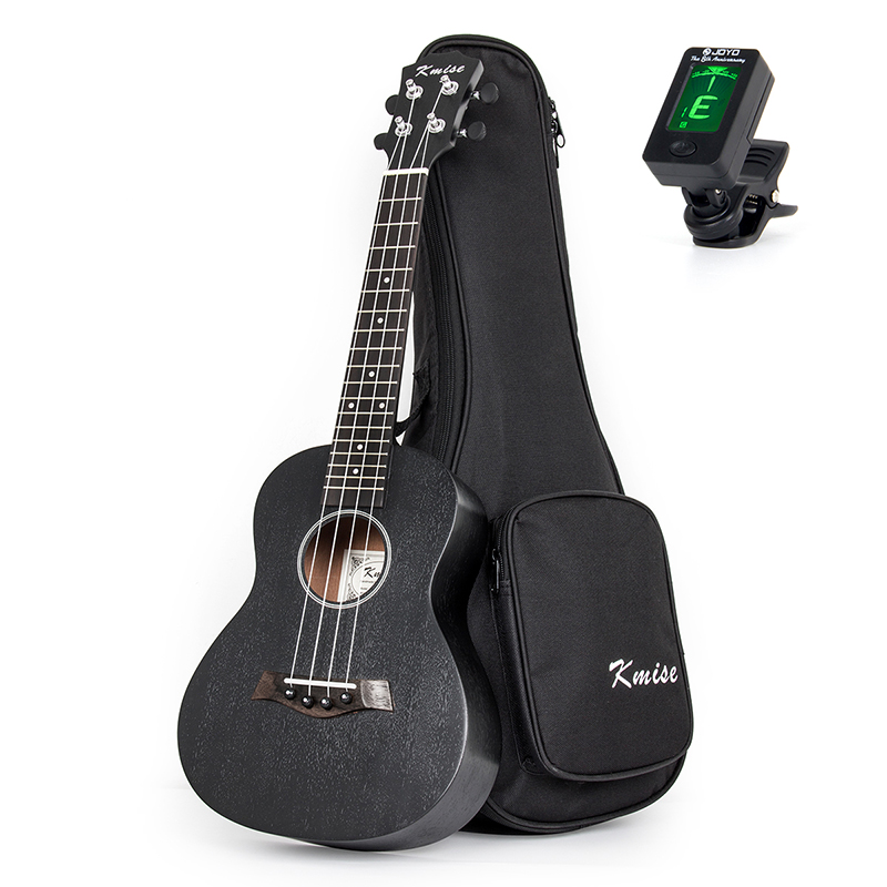 Kmise Concert Ukulele Ukelele Uke Sapele 23 inch 18 Frets 4 String Hawaii Acoustic Guitar with Gig Bag Tuner kmise soprano ukulele spruce 21 inch ukelele uke acoustic 4 string hawaii guitar 12 frets with gig bag