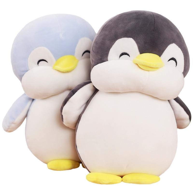 1 punid 30 cm Soft fat Penguin juguetes de peluche con personal de dibujos animados Animal muñeca de moda para niños bebés encantadoras niñas Regalo de Cumpleaños de Navidad