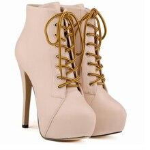 Женские зимние ботинки, новый дизайн, легкие ботильоны на необычном каблуке, Женские Черные полусапожки из натуральной кожи на шнуровке, нескользящая резиновая обувь