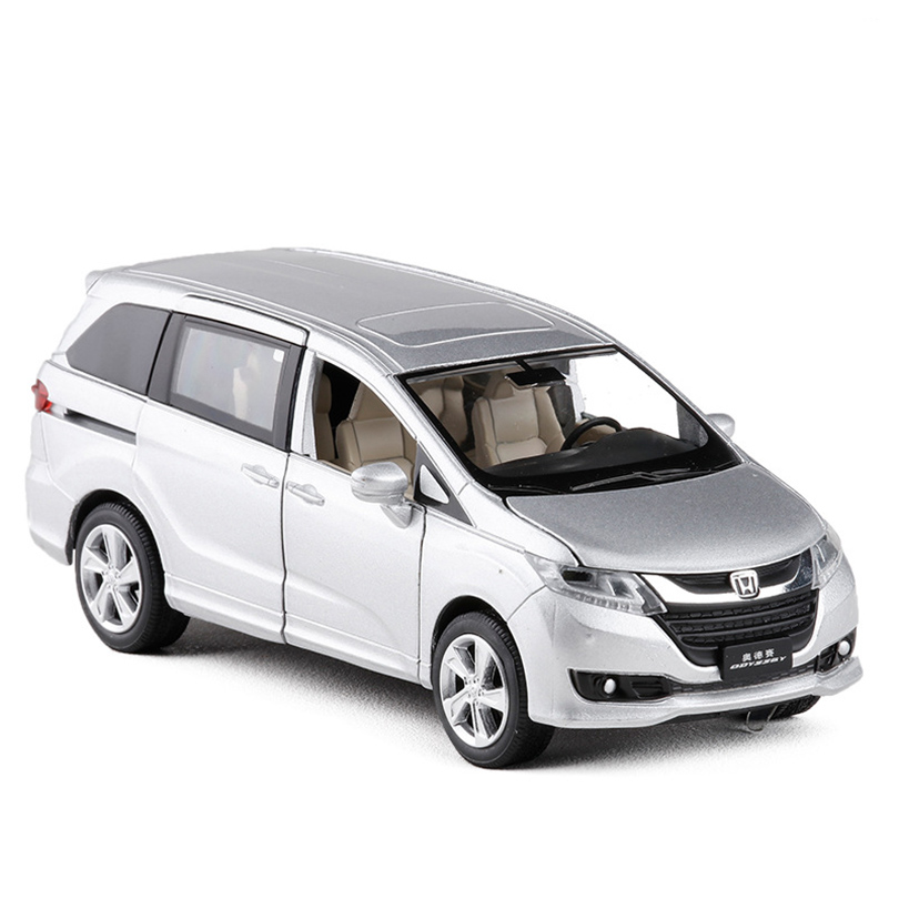 1:32 Odyssey MPV Simulation Model Toy Car Alloy Pull Back Children Toys Genuine License Collection Gift Off-Road Vehicle Kids