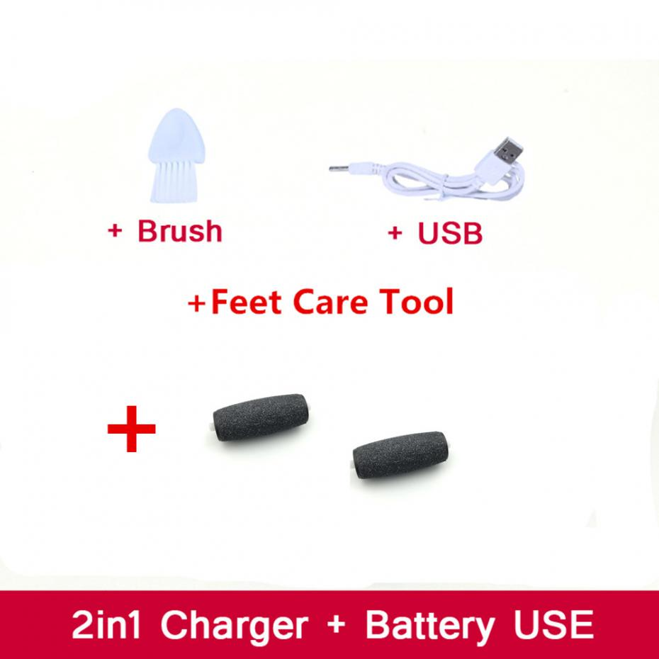 USB Charge Feet Care Heel Dead Skin Remover Tools Machine Foot Removal Pedi Electronic Cuticles Electric Callusgrinding Pedicure