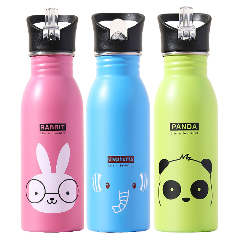 500ML Children's Stainless Steel Sports Water Bottles Portable Outdoor Cycling Camping Bicycle Bike Kettle Water Bottles    - AliExpress