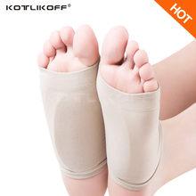 Гелевые стельки KOTLIKOFF для подошвенного фасциита, поддержка свода стопы, стельки для пятки, прямой пятки, невромамы, подушка, плоские стелеки ...