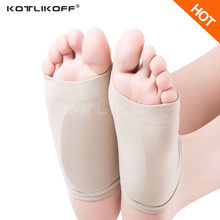 KOTLIKOFF Gel Plantar Fasciitis Arch Support Sleeve Heel Spur Heel Neuromas Cushion Flat Foot Orthotics Insoles for Men Women(China)