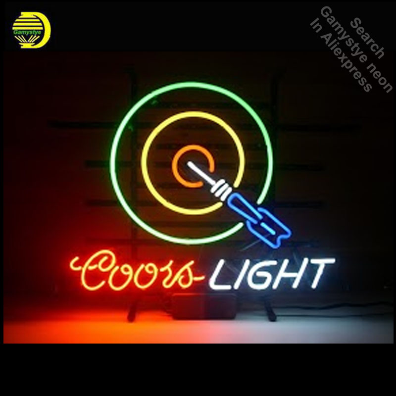 Neon Sign for Coors Light Dartboard Neon Bulb sign Iconic handcraft neon signboard Game Room neon wall lights anuncio luminosNeon Sign for Coors Light Dartboard Neon Bulb sign Iconic handcraft neon signboard Game Room neon wall lights anuncio luminos