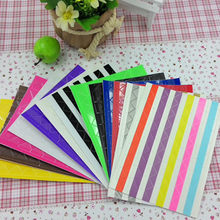 DIY PVC Handmade Photo Album Accessories Corner Stickers Creative Angle Paste 102Pcs Gift Sticker 18Colors Random Shipment(China)