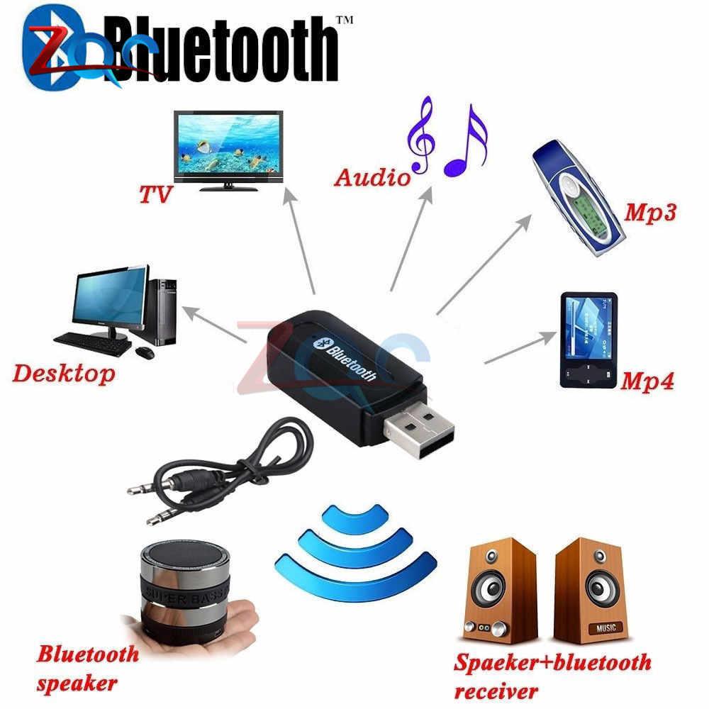 Bluetooth auxワイヤレスポータブルミニブラックbluetooth音楽オーディオレシーバーアダプタ3.5ミリメートルステレオオーディオ用ホーム車携帯電話