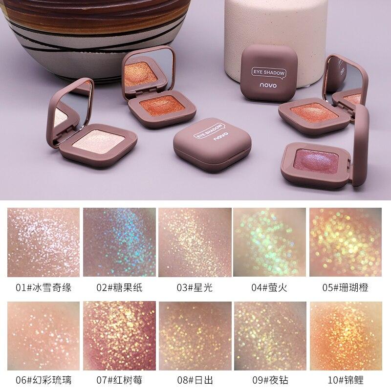 2019 novo shimmer solto sombra de olho pó maquiagem pigmento à prova dwaterproof água glitter sombra 3d nude olhos metálicos em pó cosméticos