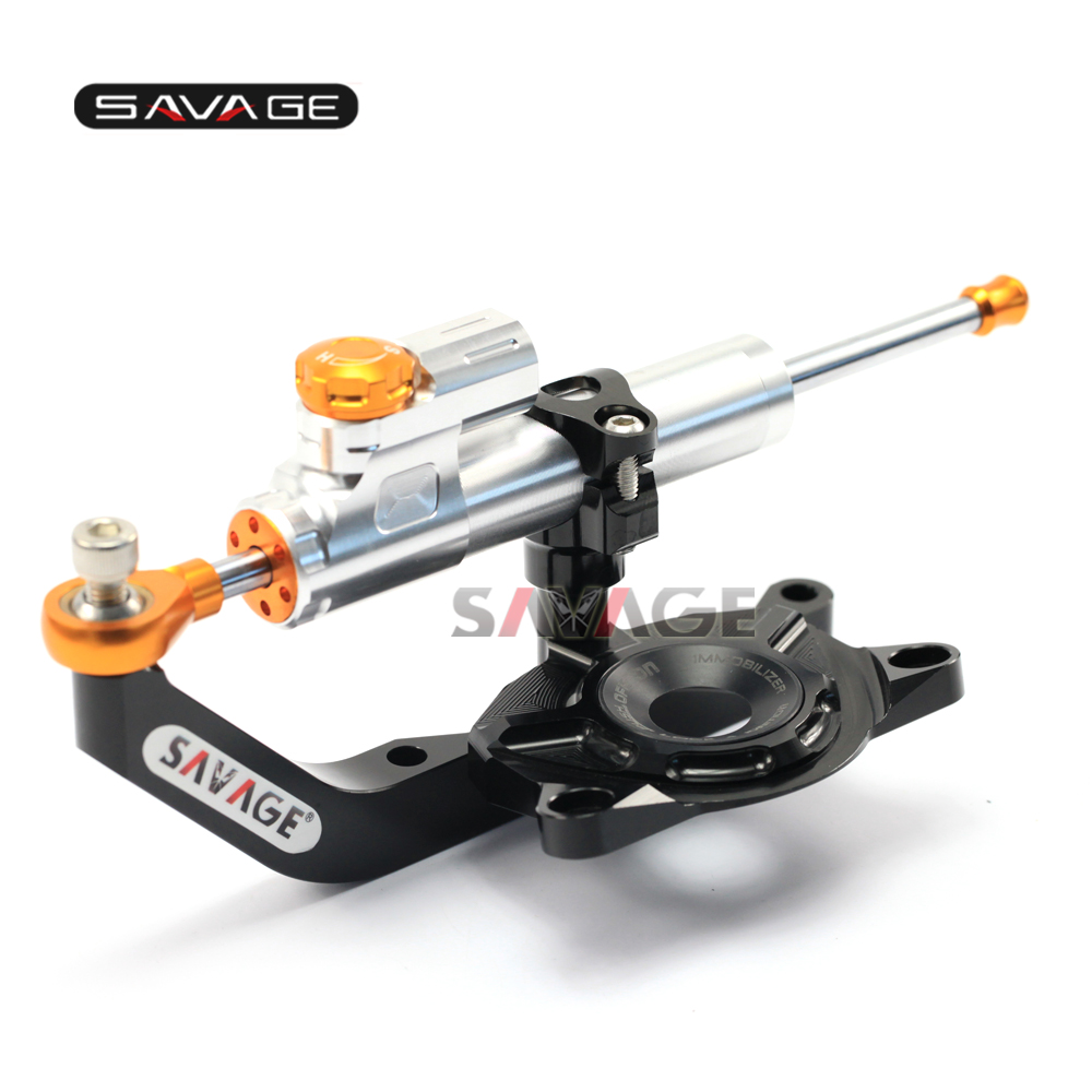 For KAWASAKI Z1000 2014 2015 2016 Motorcycle Steering Damper Stabilizer Adjustable Linear with Bracket Kit стоимость