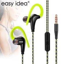 Original Sport Earphone Super Bass Headphones Sweatproof Running Headset With Mic Ear Hook For All Mobile Phone