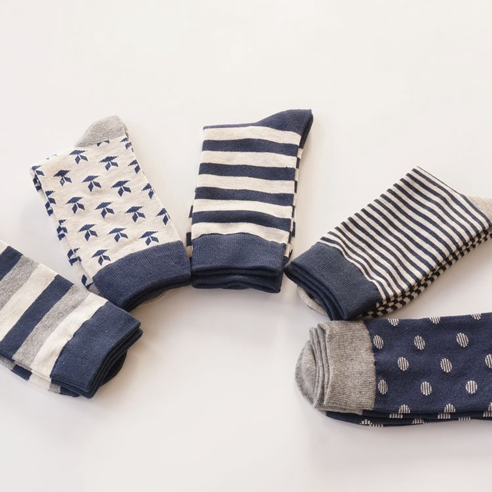 Men Autumn Winter Casual Classical England Style Striped 100% Thick Cotton   Socks   for Men Print Long   Socks   Good Quality EUR 38-44