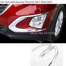 Corpo vettura anteriore della luce di nebbia struttura della lampada styling copertura trim hood pannello 2 pz stampaggio Per Chevrolet Equinox Terzo GE 2017 2018 2019