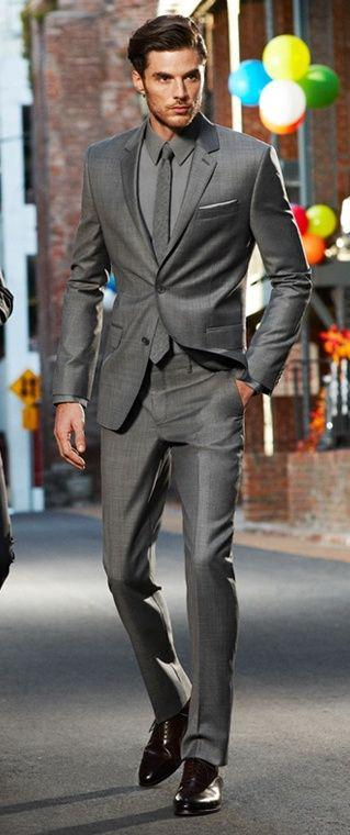 Compare Prices on Dark Grey Fitted Suit- Online Shopping/Buy Low ...