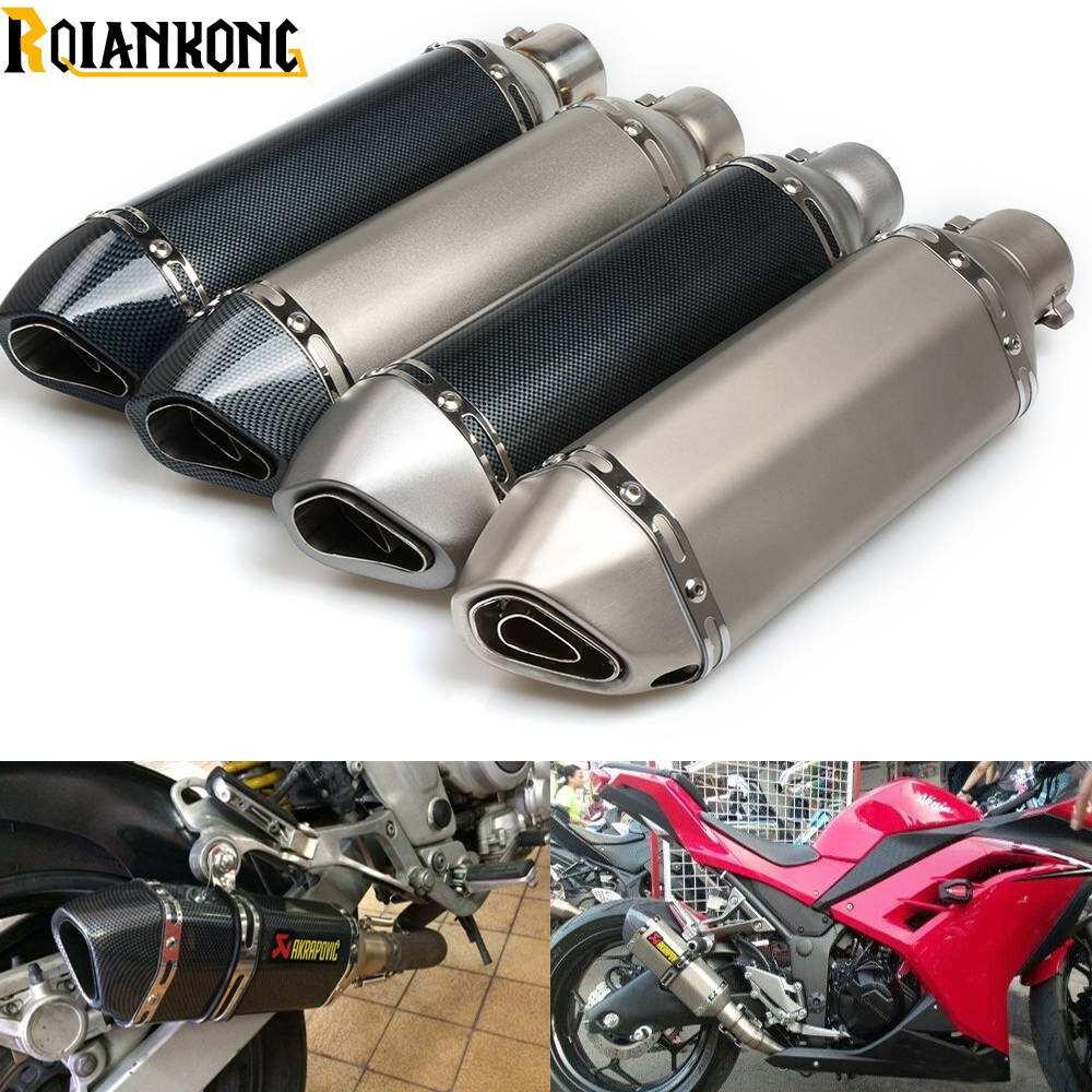 Universal Motorcycle Modified Exhaust MUFFLER pipe For Yamaha YZF R125 YZF R15 YZF R25 YZF R3 MT-02 MT-25 YZF R1/R1M MT-01 universal motorbike akrapovic modified exhaust pipe for yamaha yzf r125 yzf r15 yzf r25 yzf r3 mt 02 mt 25 yzf r1 r1m mt01 09 07