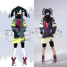 Anime Custom Made Kagerou Project Takane Enomoto Ene Headphone Actor Cosplay Costume Coat+Shirt+Skirt+Pants+Leggings