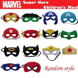Image 5 - 20pcs/set Creative Cartoon Super Hero Masquerade Mask Childrens Day Party Supplies Christmas Wedding Decoration Birthday gift