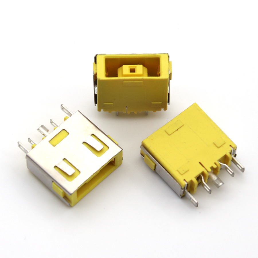 1 Piece Yellow Laptop DC Power Jack Socket Connector For <font><b>Lenovo</b></font> G400 G405S G505 G490 <font><b>G500</b></font> G505 Z501 image