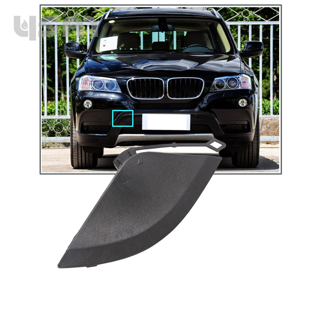 NoEnName_Null Random Color Front Bumper Tow Eye Hook Cover Cap Primed For BMW X3 F25 2011-2014 51117210474 51 11 7 210 474