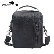 VANTER OX Genuine Leather Handbags Men And Women Cow Shoulder Bags Ladies Gentlemen Solid Business Envelope