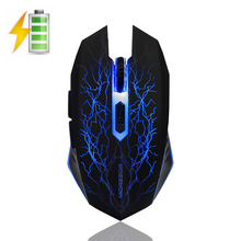 MZ16 Rechargeable 2.4GHz Wireless Silent 7 Colors Backlit Breath Ergonomic Optical USB Gaming Mouse Gamer For PC Laptop Computer