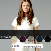Soft Ultra Thin Wool Cashmere Woolen Fabric Use Dress Skirt