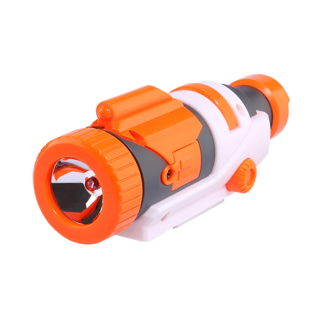 Modified Part Tactical Flashlight For Nerf Elite Series - Orange + Grey
