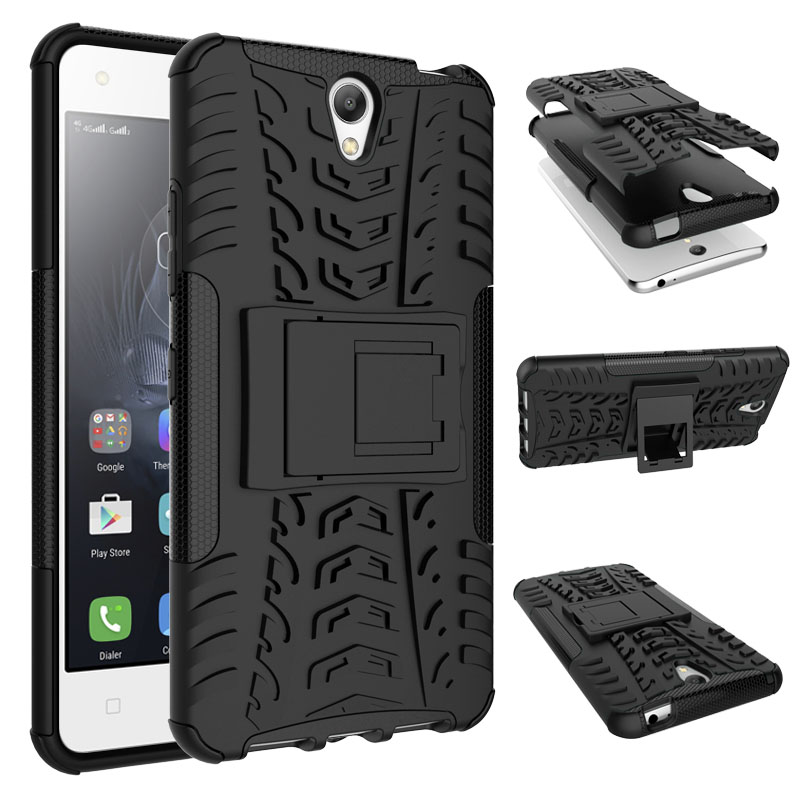 competitive price c25f1 bc986 US $3.37 25% OFF|BYHeYang For Lenovo Vibe S1 S1a40 S1c50 Cover Rugged  Rubber Armor Quality PC+TPU Hybrid Kickstand Case For Lenovo Vibe S1  Case-in ...
