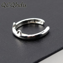 ФОТО plated silver rings cat ear jewelry cat ring adjustable cat claws rings for women and girl gifts party fashion jewelry