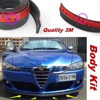 Car Bumper Lip For Alfa Romeo Mito 147 156 159 166 Giulietta Spider GT Alfetta Berlina Spoiler Bumper Deflector Rubber Strip