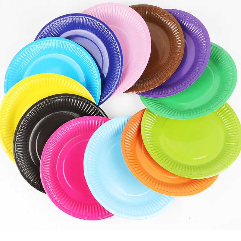 50pcs 18cm Children DIY Handmade Rainbow Paper Plate Toys/ Kids Adult DIY Material Colorful Plate For Handmde Art Craft
