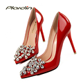 plardin Rhinestone Pumps Women Wedding Bling Pumps Victoria Crystal Shoes Woman 2017 Women Women's Color Bridal High Heels